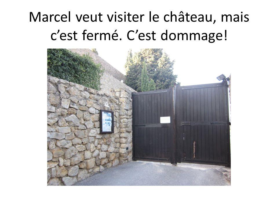 Marcel veut visiter le château, mais cest fermé. Cest dommage!