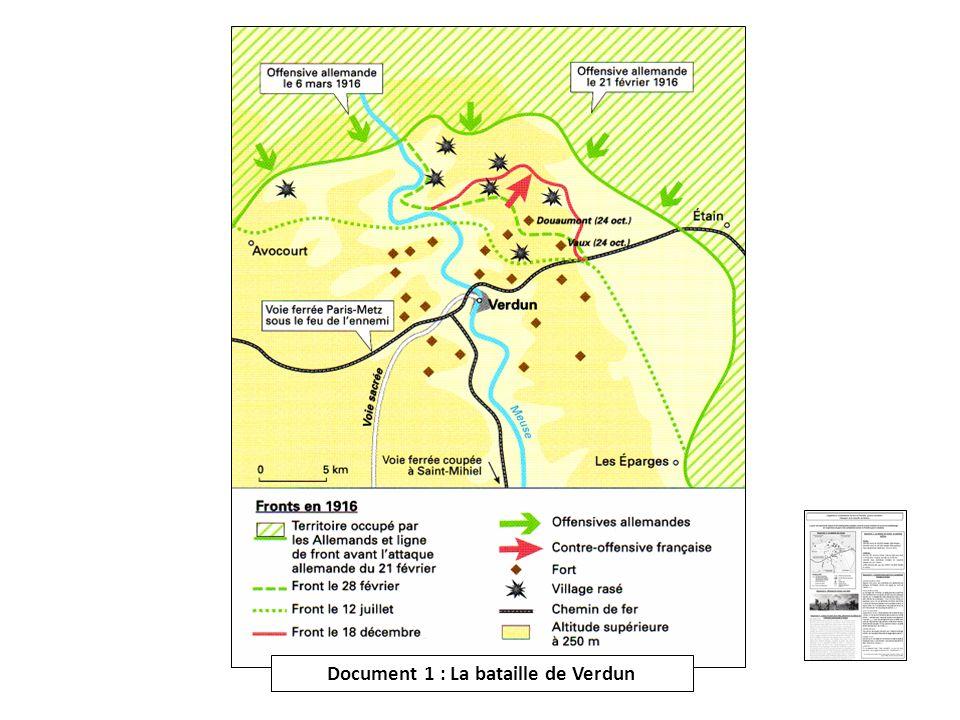 Document 1 : La bataille de Verdun