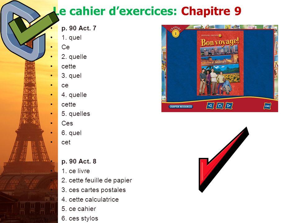 français 5H/6AP Le passé composé v.Limparfait p. 106 Act.
