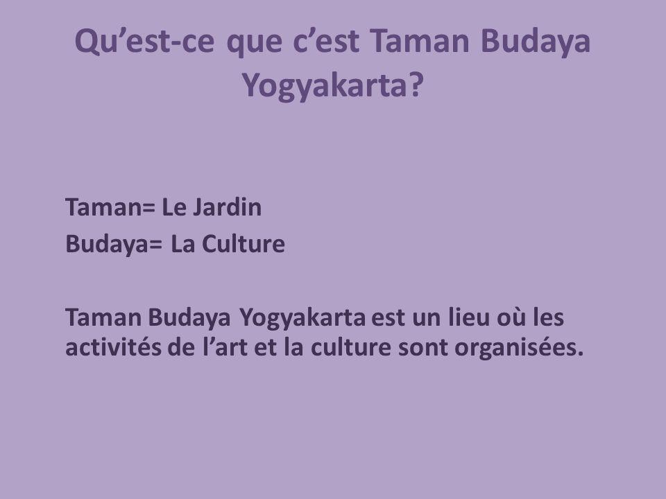 Quest-ce que cest Taman Budaya Yogyakarta.