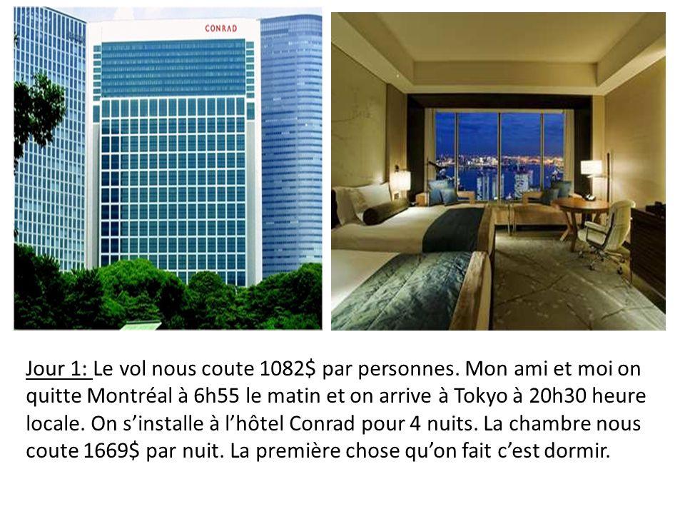 Jour 1: Le vol nous coute 1082$ par personnes. Mon ami et moi on quitte Montréal à 6h55 le matin et on arrive à Tokyo à 20h30 heure locale. On sinstal