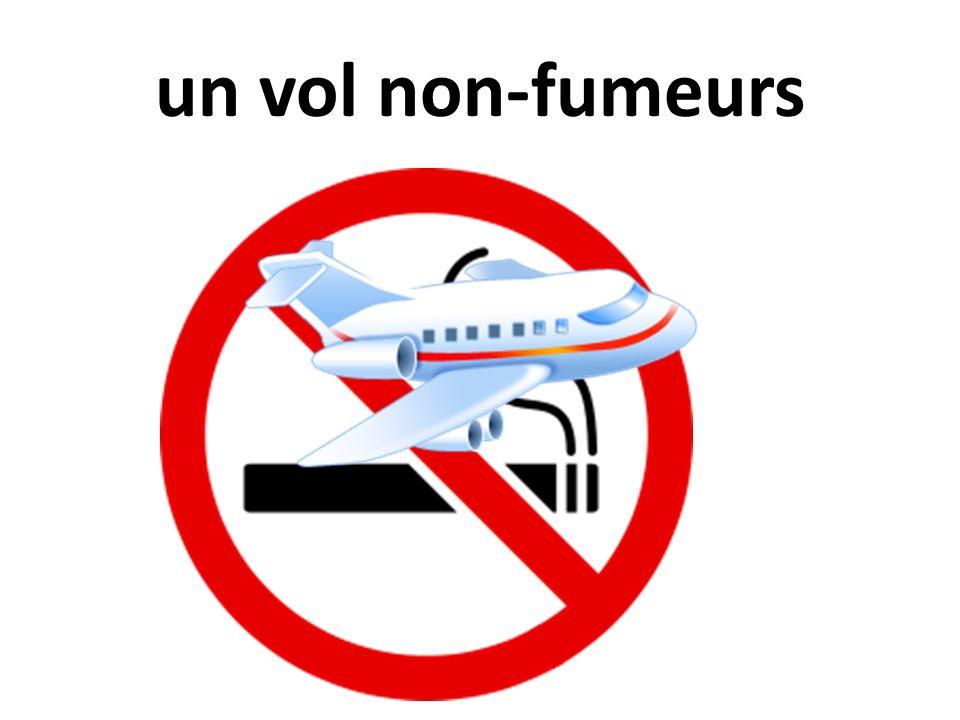 un vol non-fumeurs
