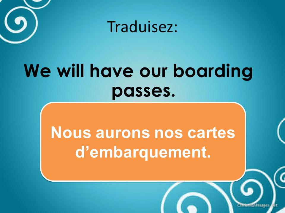 Traduisez: Checked lugage Les bagages enregistrés
