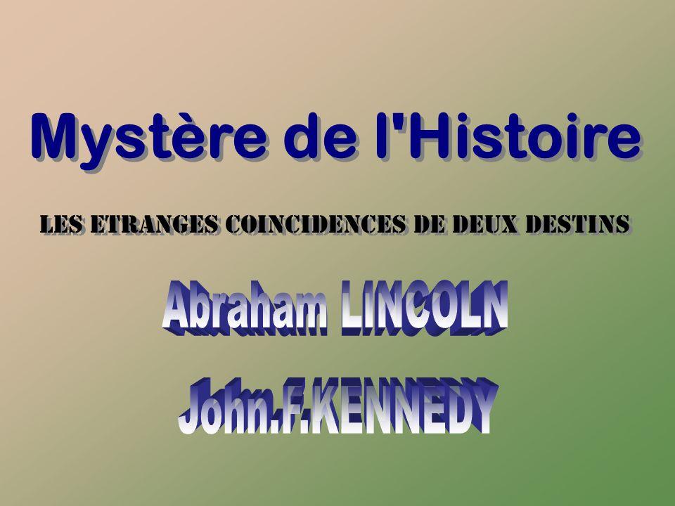Mystère de l Histoire LES ETRANGES COINCIDENCES DE DEUX DESTINS LES ETRANGES COINCIDENCES DE DEUX DESTINS