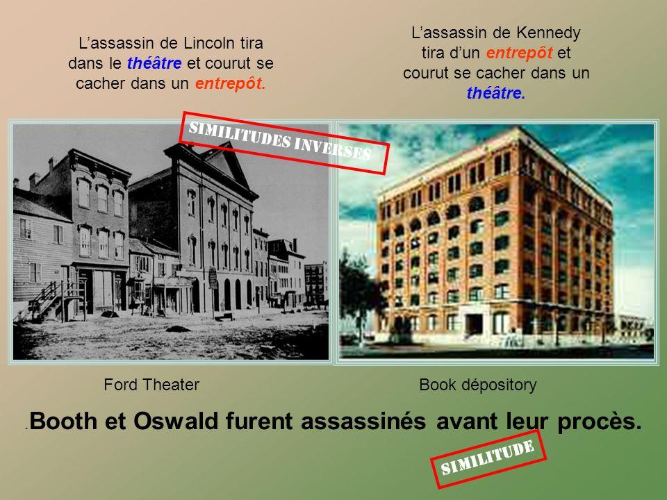 Maintenant accrochez vous Kennedy a été assassiné dans une voiture appelée «Lincoln» construite par «Ford». Lincoln a été abattu au théâtre nommé «For