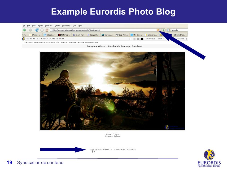 19 Example Eurordis Photo Blog Syndication de contenu
