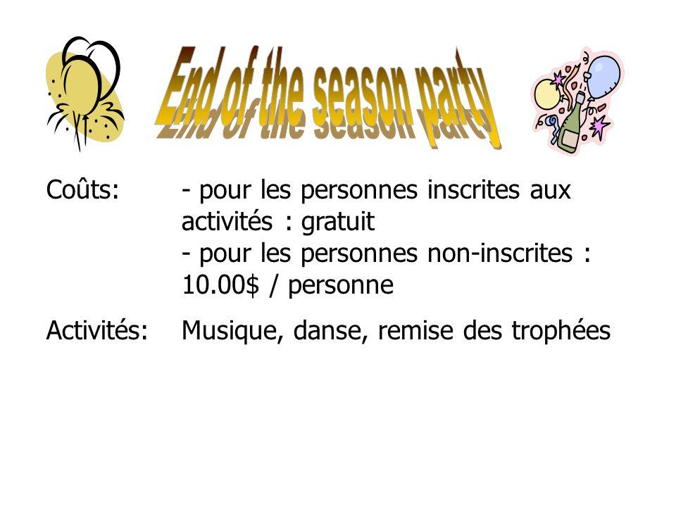 6 of 46 Date:Mardi, le 23 mars, 2010 Début des activités : 17h00 En cas de pluie : remis au mercredi 24 mars Endroit:Rue en face du Chalet Menu:Vin, b