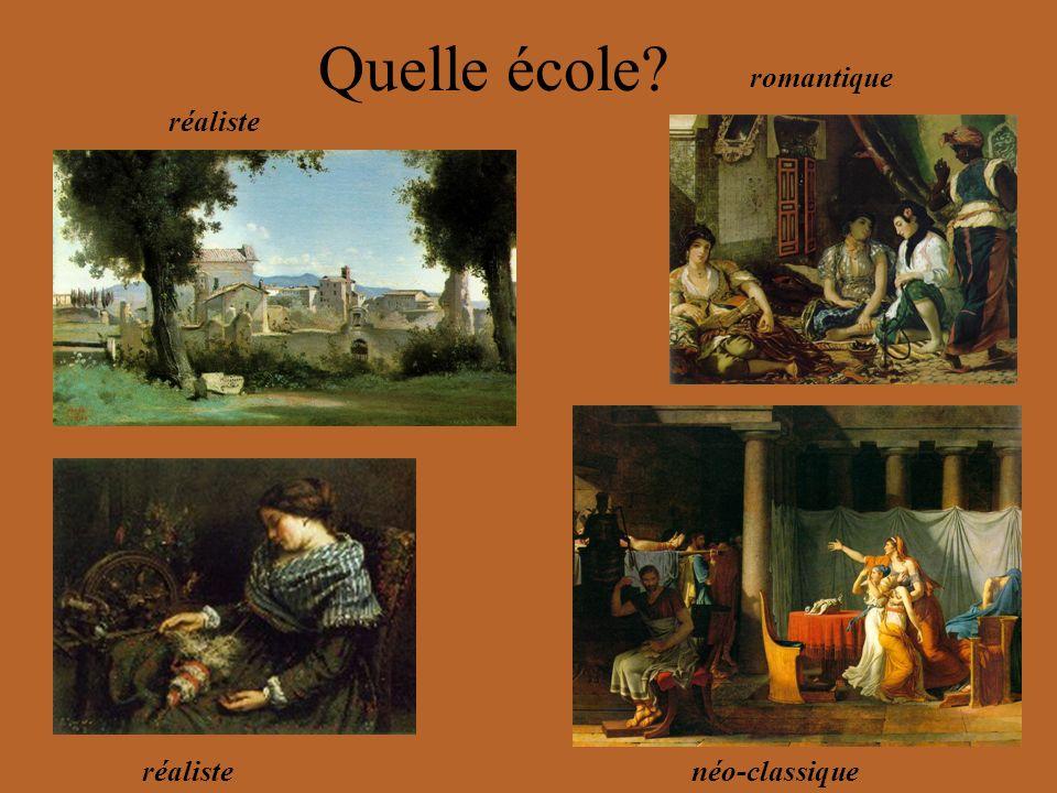 réaliste romantique réalistenéo-classique