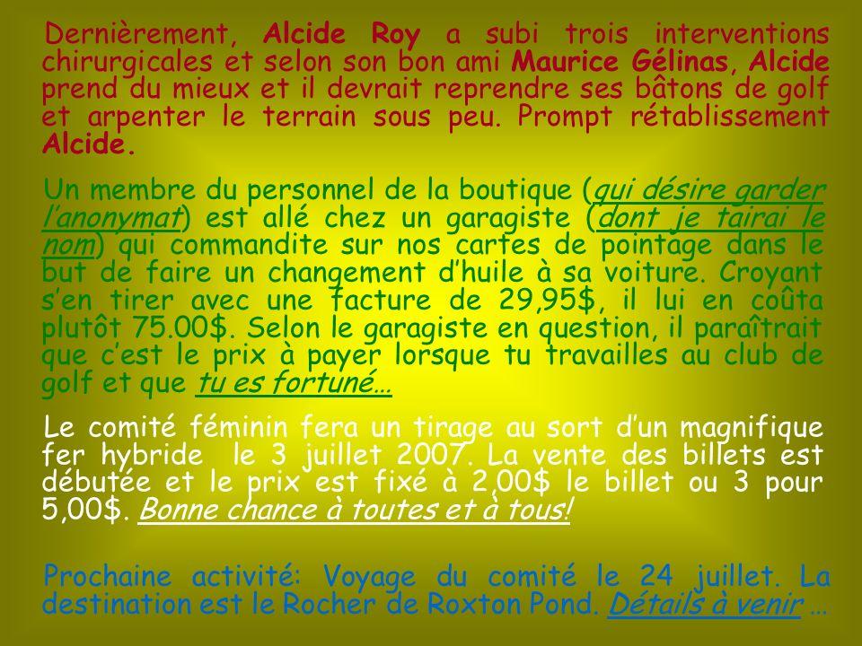 Lorsque vous verrez François Gagnon sur les verts, vous remarquerez la ressemblance dans le style avec Happy Gilmore, ce qui a fait dire à Yvon Lefebvre et Luce Bastonnais que nous devrions surnommer François : Happy Gagnon.