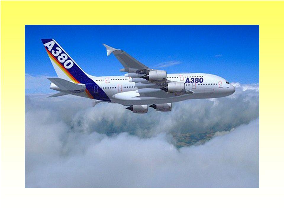 Géant des airs du futur… 73m de long, 79,80 m d'envergure, 24,10 m de hauteur, 20 roues, jusqu'à 656 places passagers... L'airbus A380 sera le plus gr