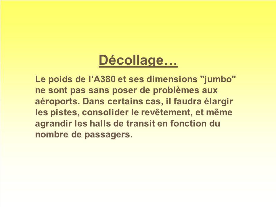Décollage… Le poids de l A380 et ses dimensions jumbo ne sont pas sans poser de problèmes aux aéroports.