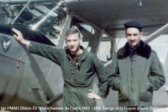 1er PMAH 20ème DI - Détachement de Djelfa 1961 - MdL Jarrige et Lt Guyon (Pierre Jarrige)