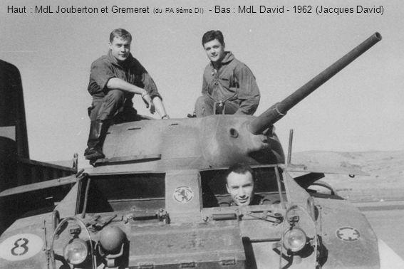 Haut : MdL Jouberton et Gremeret (du PA 9ème DI) - Bas : MdL David - 1962 (Jacques David)