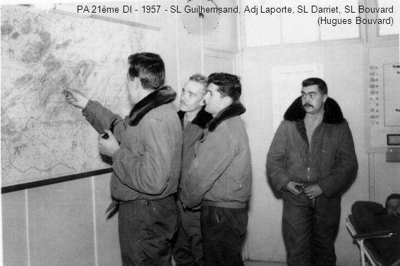 PA 21ème DI - 1957 - SL Guilhemsand, Adj Laporte, SL Darriet, SL Bouvard (Hugues Bouvard)