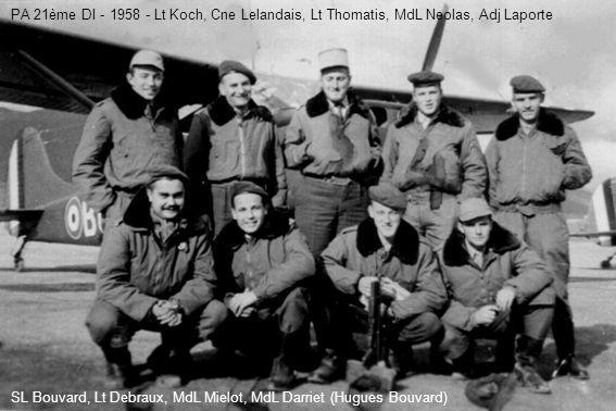 PA 21ème DI - 1958 - Lt Koch, Cne Lelandais, Lt Thomatis, MdL Neolas, Adj Laporte SL Bouvard, Lt Debraux, MdL Mielot, MdL Darriet (Hugues Bouvard)