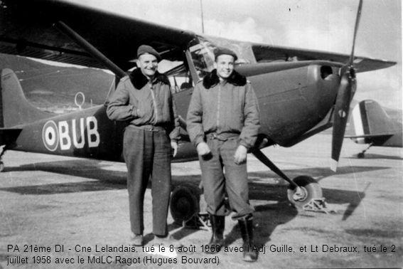 PA 21ème DI - Cne Lelandais, tué le 8 août 1958 avec lAdj Guille, et Lt Debraux, tué le 2 juillet 1958 avec le MdLC Ragot (Hugues Bouvard)