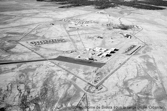 Aérodrome de Biskra sous la neige (Alain Crosnier)