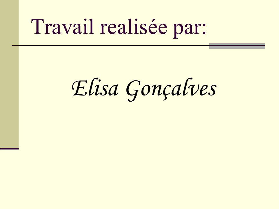 Travail realisée par: Elisa Gonçalves