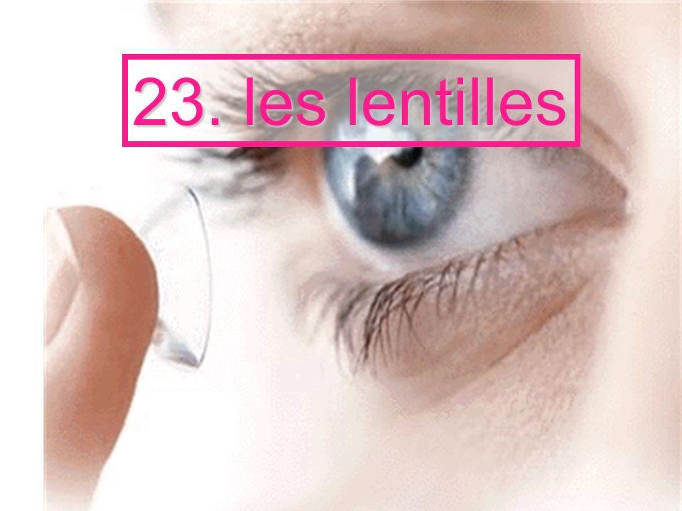 23. les lentilles