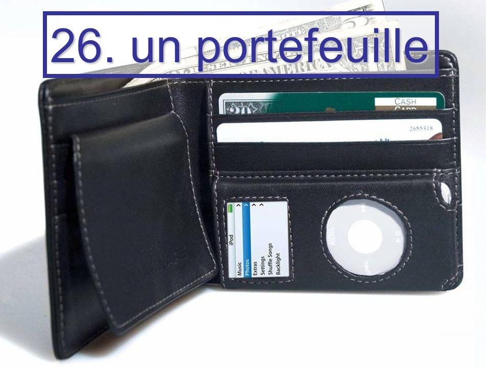 26. un portefeuille