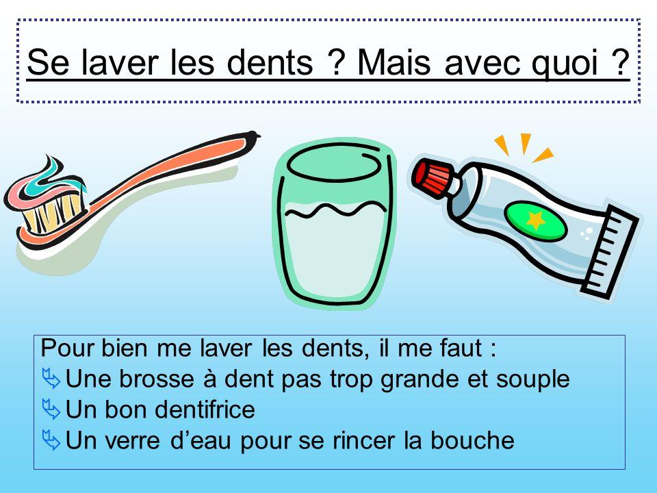 Solution contre les caries Se laver les dents 2 x par jour, le matin et le soir. Et surtout les nettoyer de tous côtés !