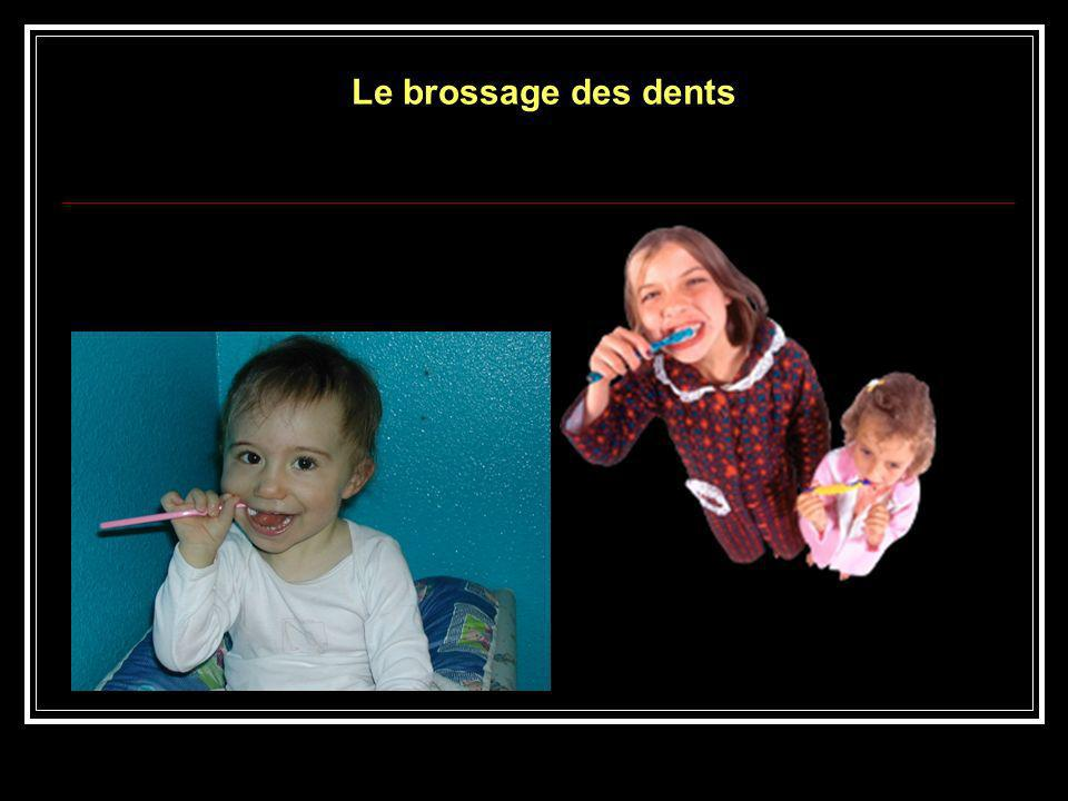 Le brossage des dents