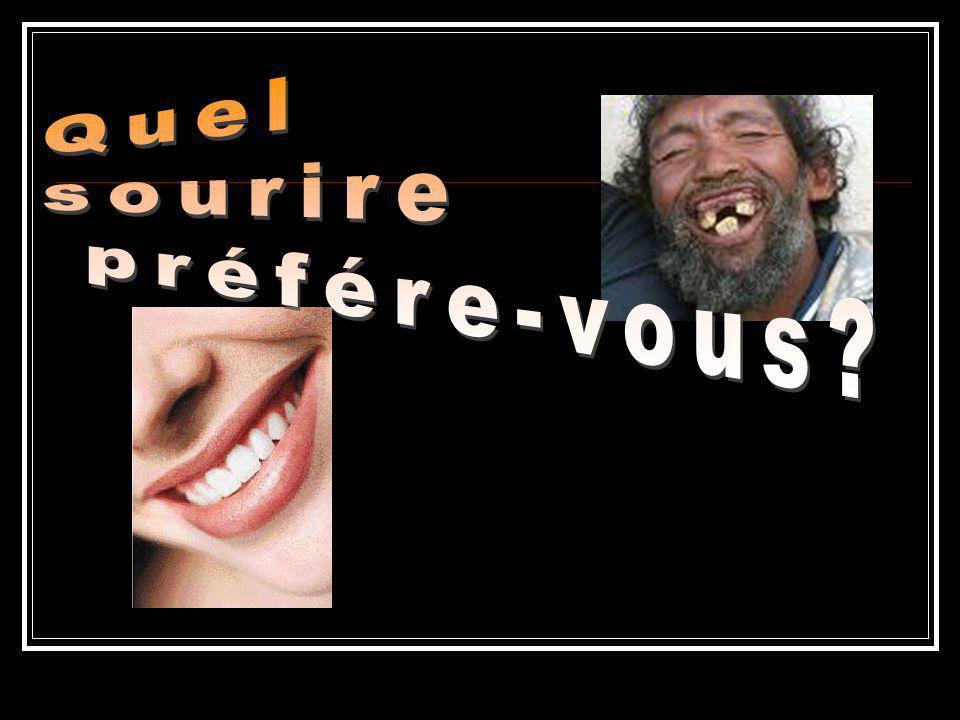 Les dents de lait ou dents temporaires L enfant a 20 dents de lait.