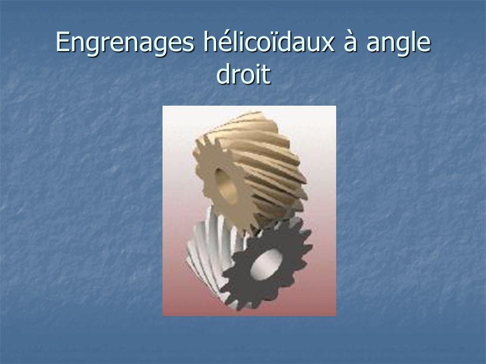 Engrenages hélicoïdaux à angle droit