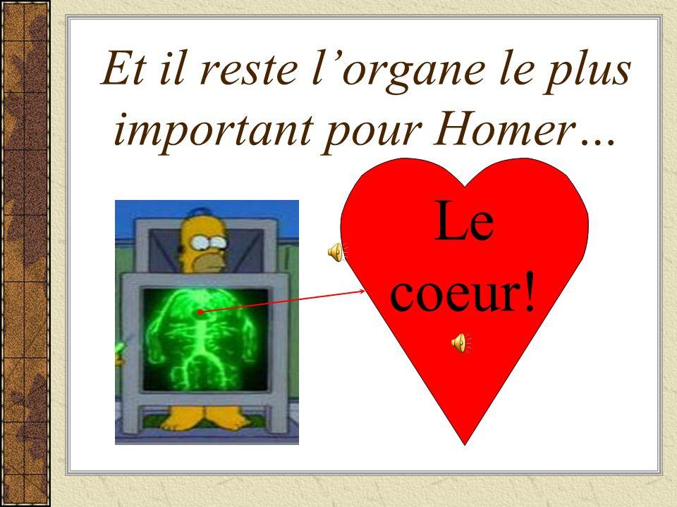 Et une image osée de Homer… La peau Une épaule Le dos Le… derrière Un talon