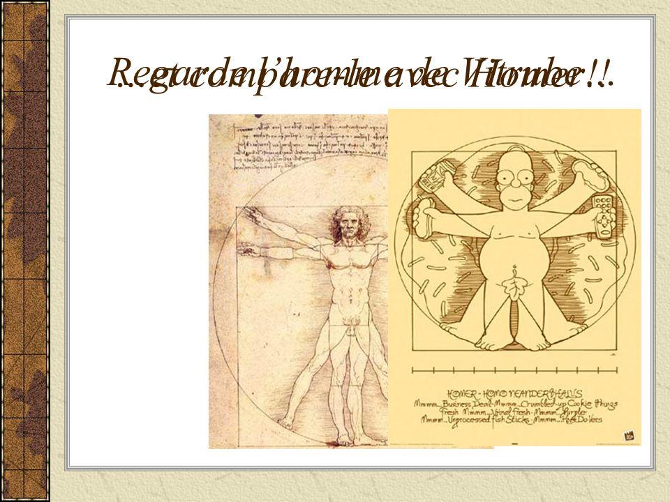 Regarde lhomme de Vitrube… …et compare-le avec Homer!!