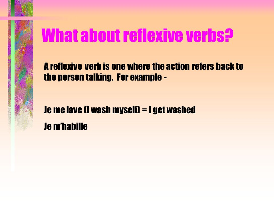 What about reflexive verbs? Je me suis levé(e)