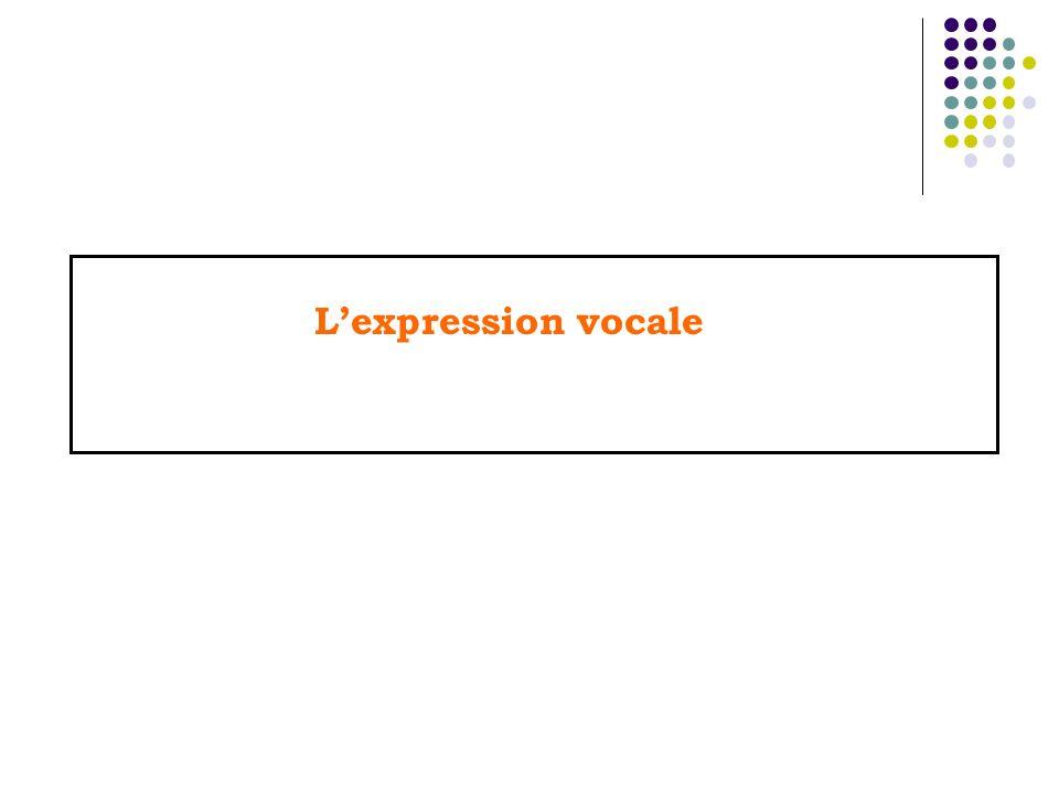 Lexpression vocale