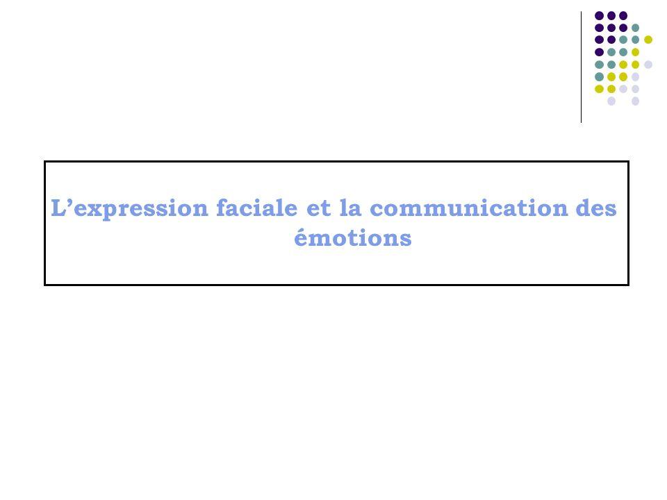 Lexpression faciale et la communication des émotions