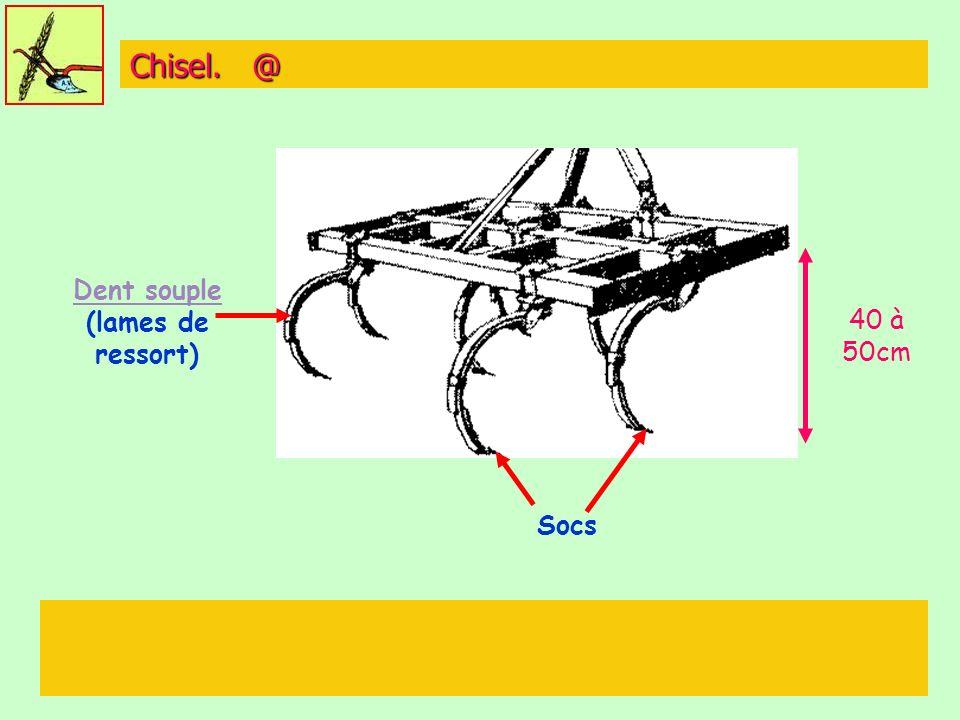 Chisel. @ Dent souple Dent souple (lames de ressort) Socs 40 à 50cm