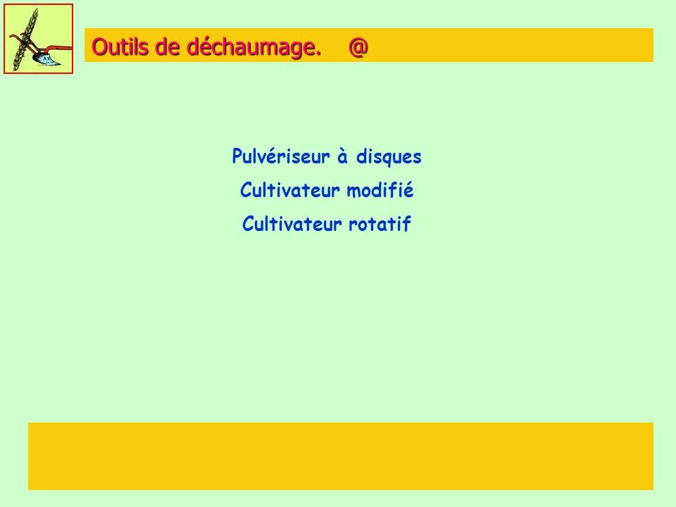 Outils de déchaumage. @ Pulvériseur à disques Cultivateur modifié Cultivateur rotatif