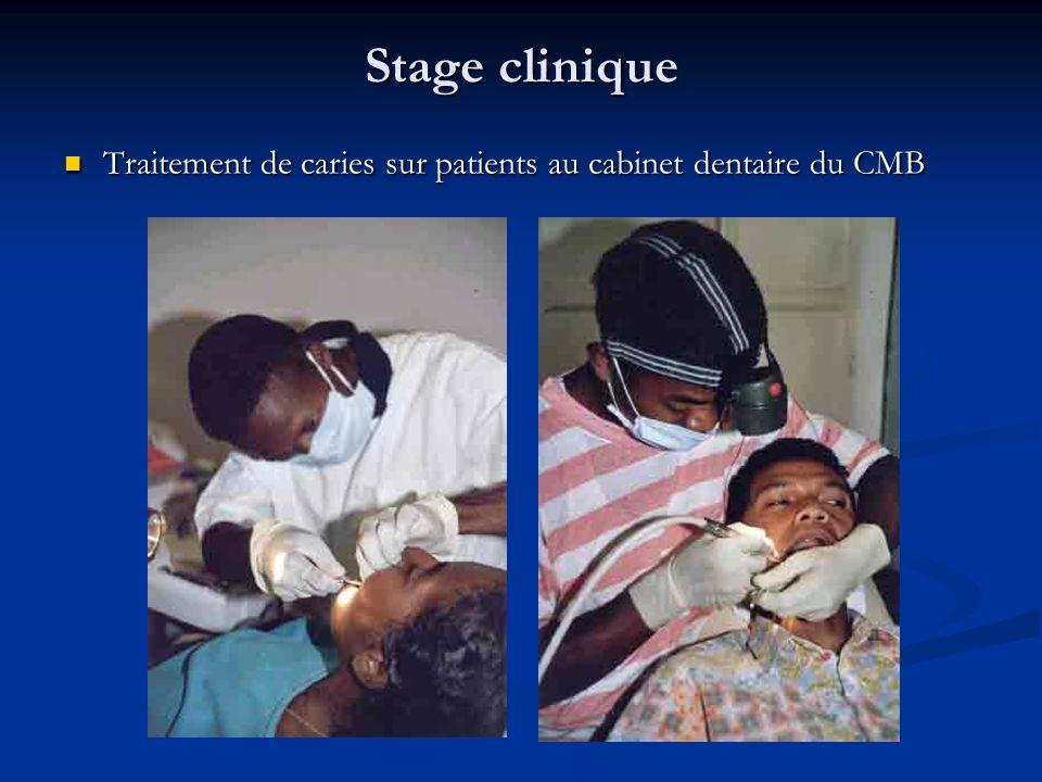 Stage clinique Traitement de caries sur patients au cabinet dentaire du CMB Traitement de caries sur patients au cabinet dentaire du CMB