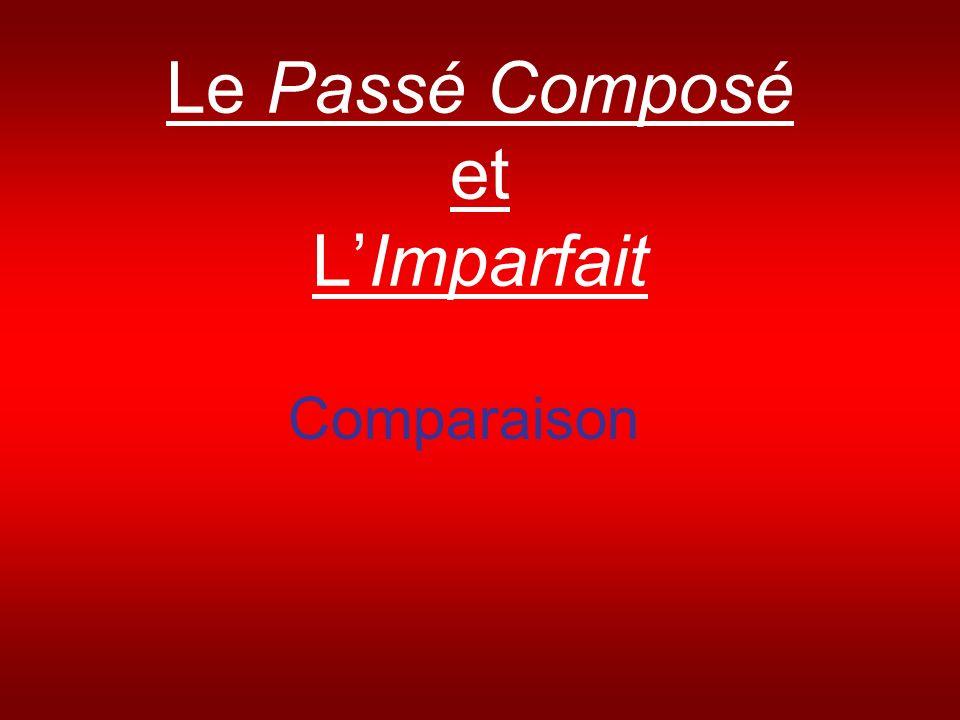 Le Passé Composé et LImparfait Comparaison