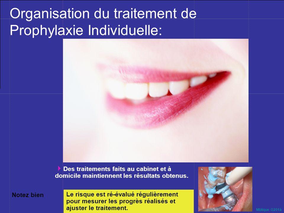 Mblique ©201à 10- « Prophylaxie Dentaire Individuelle » : Une nouvelle approche de traitement Un engagement de succès à long terme entre le praticien et son patient
