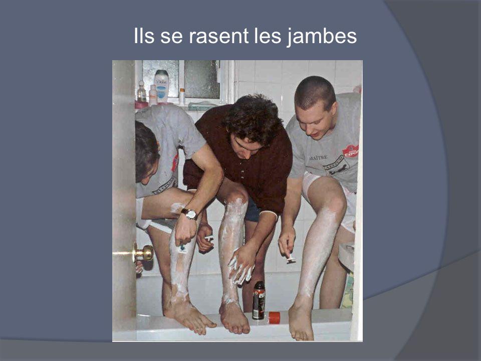 Ils se rasent les jambes