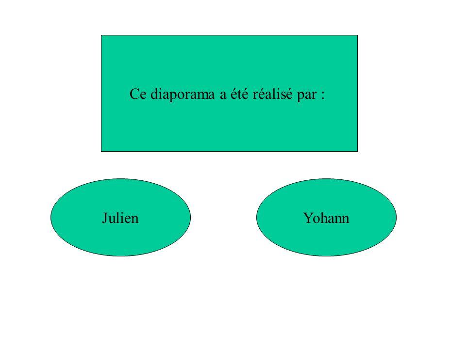YohannJulien Ce diaporama a été réalisé par :