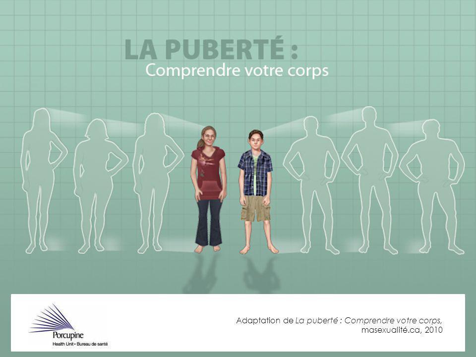 Adaptation de La puberté : Comprendre votre corps, masexualité.ca, 2010