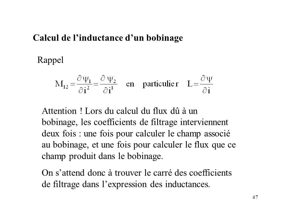 47 Calcul de linductance dun bobinage Rappel Attention .