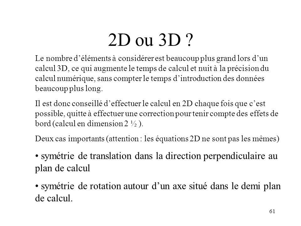 61 2D ou 3D .