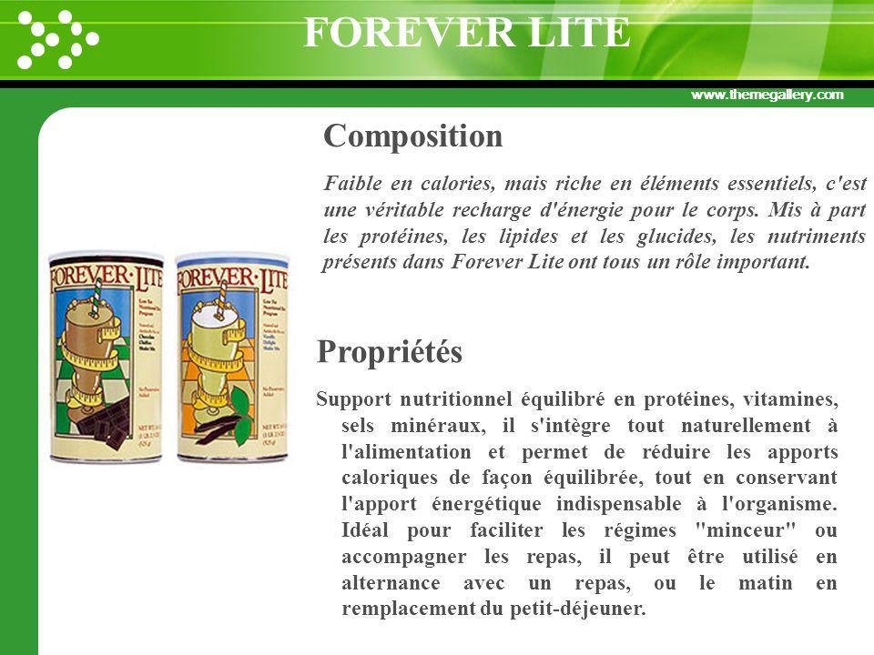 www.themegallery.com Composition Faible en calories, mais riche en éléments essentiels, c'est une véritable recharge d'énergie pour le corps. Mis à pa