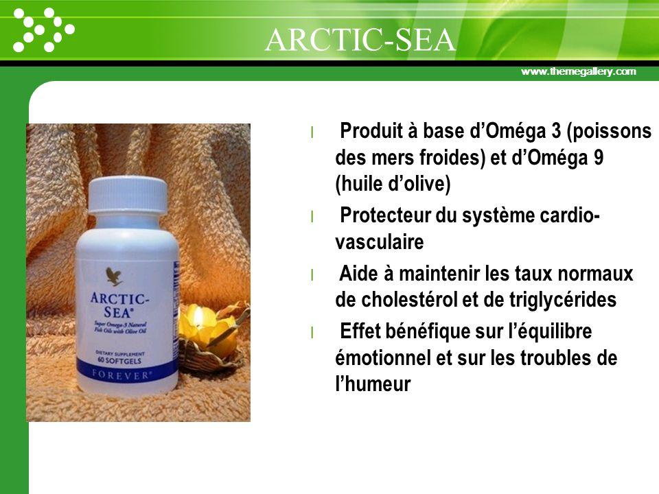 www.themegallery.com l Produit à base dOméga 3 (poissons des mers froides) et dOméga 9 (huile dolive) l Protecteur du système cardio- vasculaire l Aid