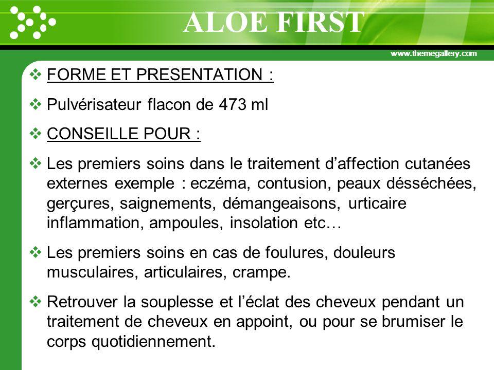 www.themegallery.com FORME ET PRESENTATION : Pulvérisateur flacon de 473 ml CONSEILLE POUR : Les premiers soins dans le traitement daffection cutanées