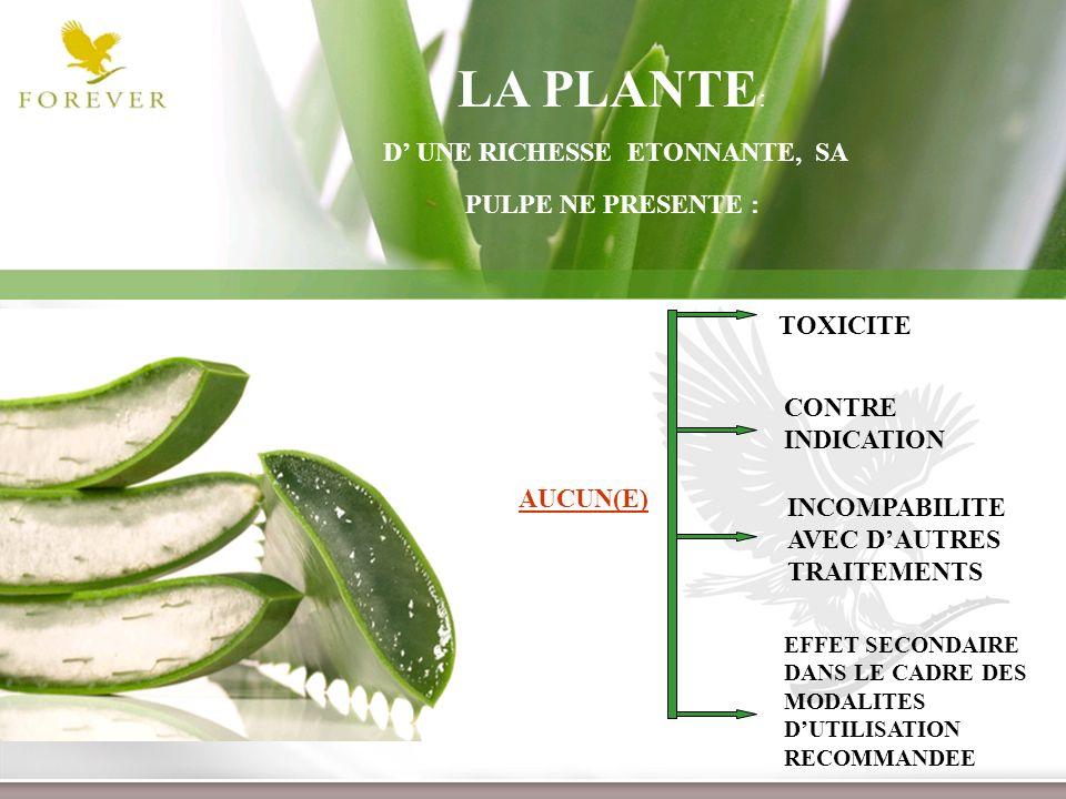www.themegallery.com Présentation de lOpportunité dAffaire TOXICITE INCOMPABILITE AVEC DAUTRES TRAITEMENTS LA PLANTE : D UNE RICHESSE ETONNANTE, SA PU