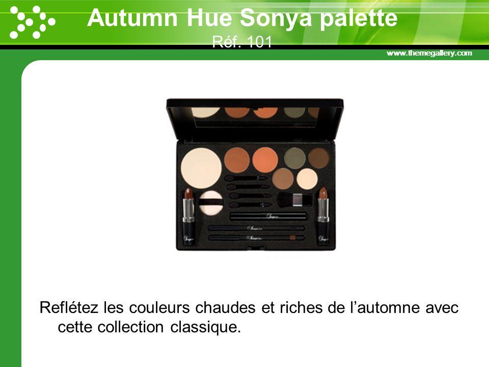 www.themegallery.com Autumn Hue Sonya palette Réf. 101 Reflétez les couleurs chaudes et riches de lautomne avec cette collection classique.
