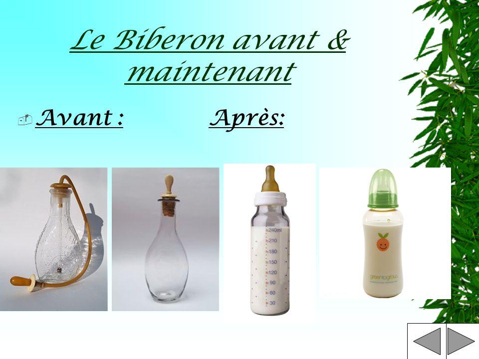 Le Biberon Un biberon est un ustensile utilisé pour lallaitement artificiel. Il se présente aujourdhui sous la forme dun flacon gradué de contenance r