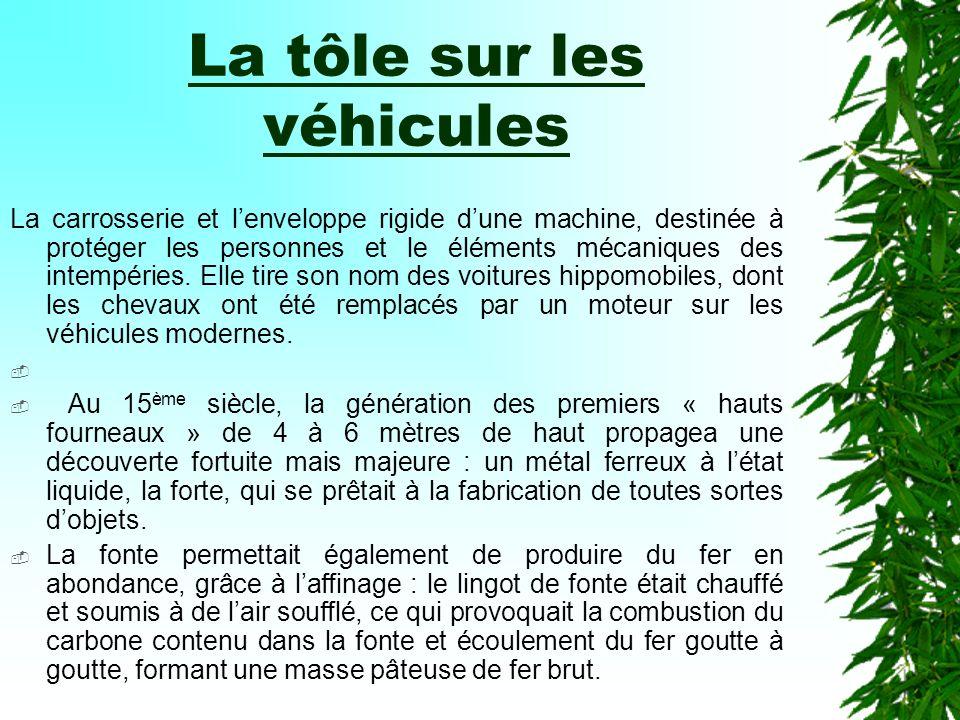 OBJET : la tôle sur les véhicules T.B. D.P.6 (Découverte Professionnelle 6h)